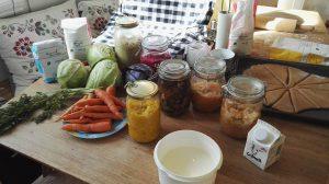 fermenterte grønnsaker og baking med urkorn